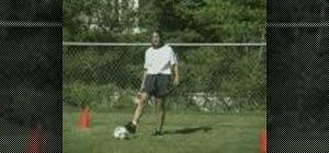Practice the Chip & Punt soccer drill