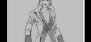Draw a comic-style woman