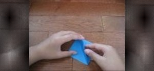 Origami a lily or iris flower