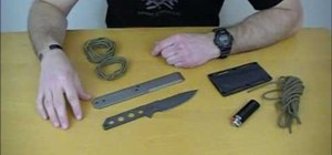 Wrap a strider knife with a paracord rope style