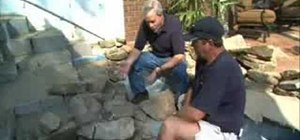 Install a water feature for your swimming pool