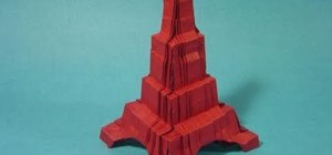 Fold an advanced origami Eiffel Tower