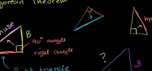 Use the Pythagorean theorem to find the length of the third side of a triangle