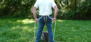 Make a Swiss seat rope harness