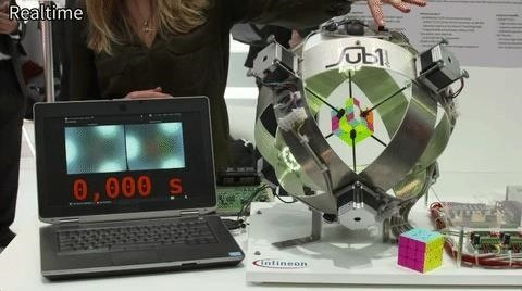 This Insanely Fast Robot Solved a Rubik's Cube in Just 0.637 Seconds