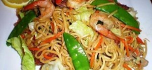 Make Filipino pancit canton (noodle dish)