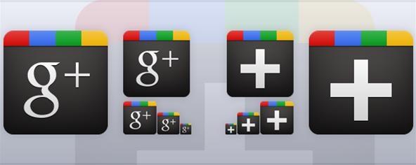 free google+ icons