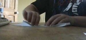 Make a boomerang paper airplane