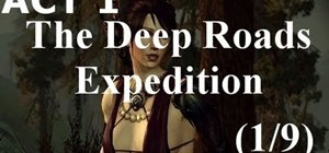 Complete the Act 1 story quest 'The Deep Roads Expedition' in Dragon Age 2