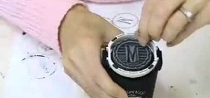 Make monogrammed coasters and napkins with a monogram stamper and ink
