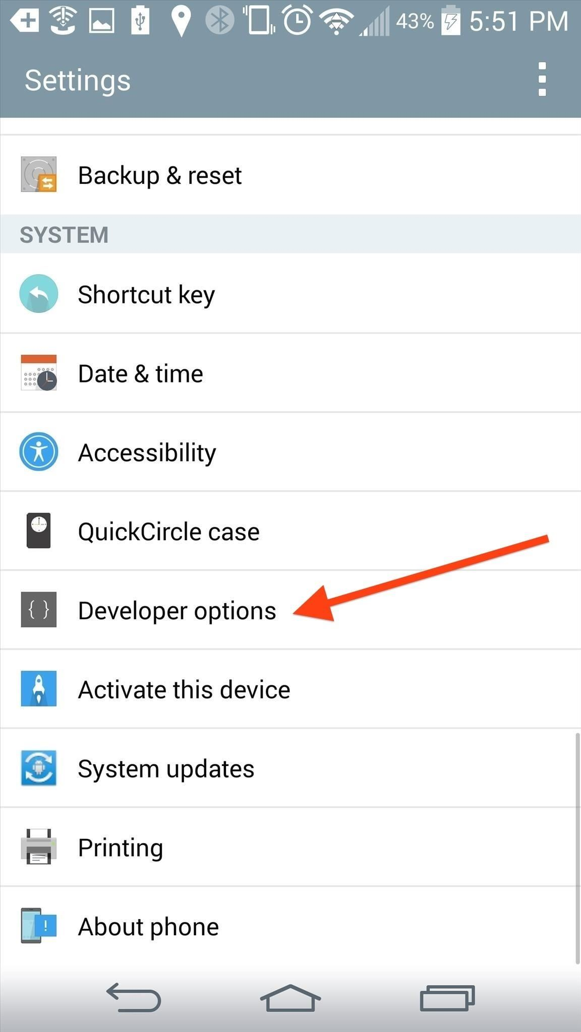 How to Enable the Hidden Developer Options & USB Debugging on the LG G3
