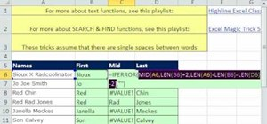 Extract first, middle, & last names in Microsoft Excel