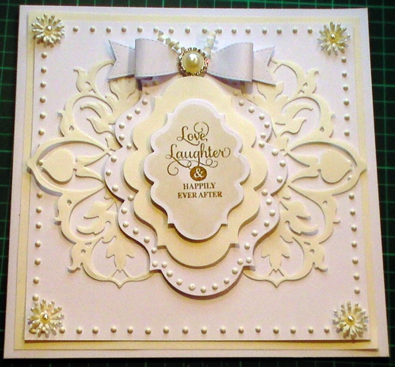 How to make White Ivory Fretwork Fancy Wedding Card Papercraft