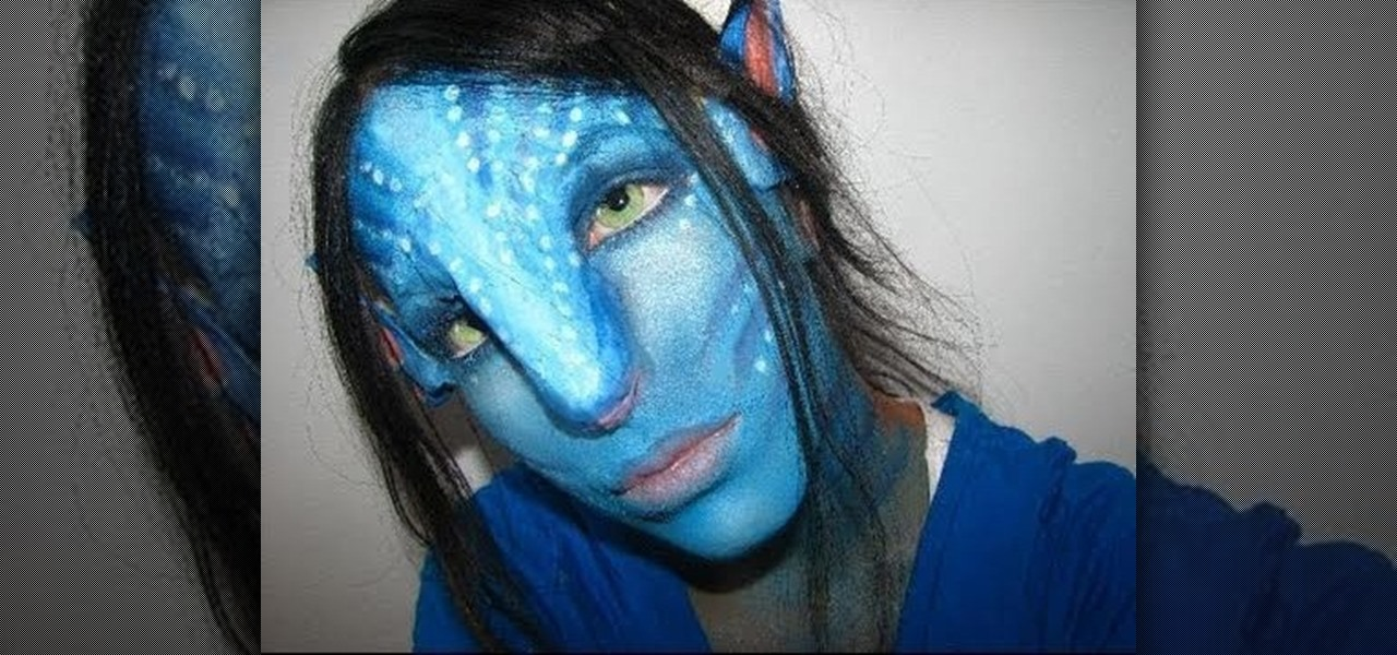 how to create an avatar na vi girl makeup look for halloween