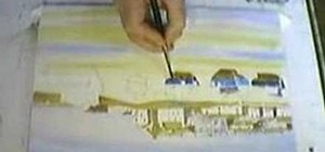 Paint fishing boats with watercolors