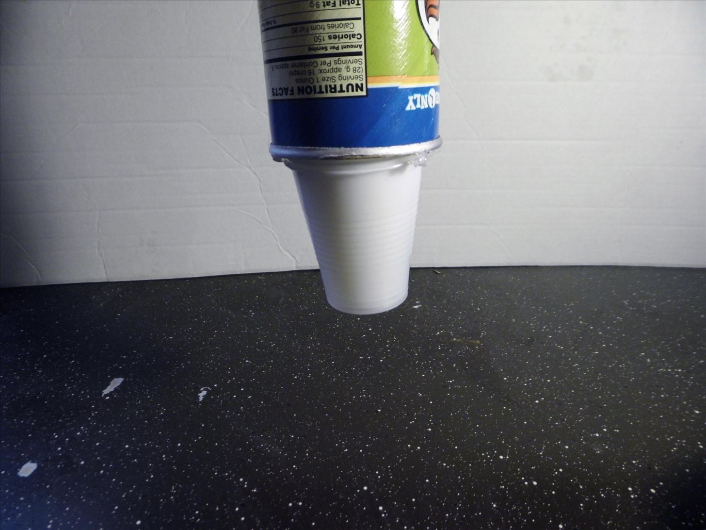 Step 4Glue Drops. How to Make a Cheap  Stylized Paper Cup Dispenser for Your