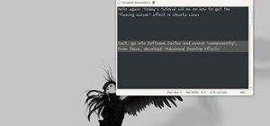 Get the flaming cursor effect in Ubuntu Linux