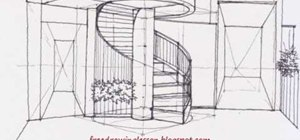 Draw a complex levels image of a staircase