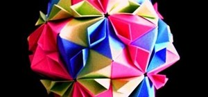 Fold an origami cherry blossom ball