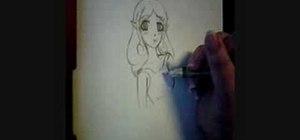 Draw an anime fairy