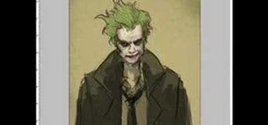 Draw Joker from Batman for manga & comics
