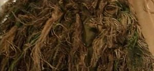 Make a ghillie suit from burlap