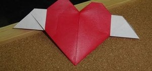 Fold a simple heart with wings for Valentine's Day