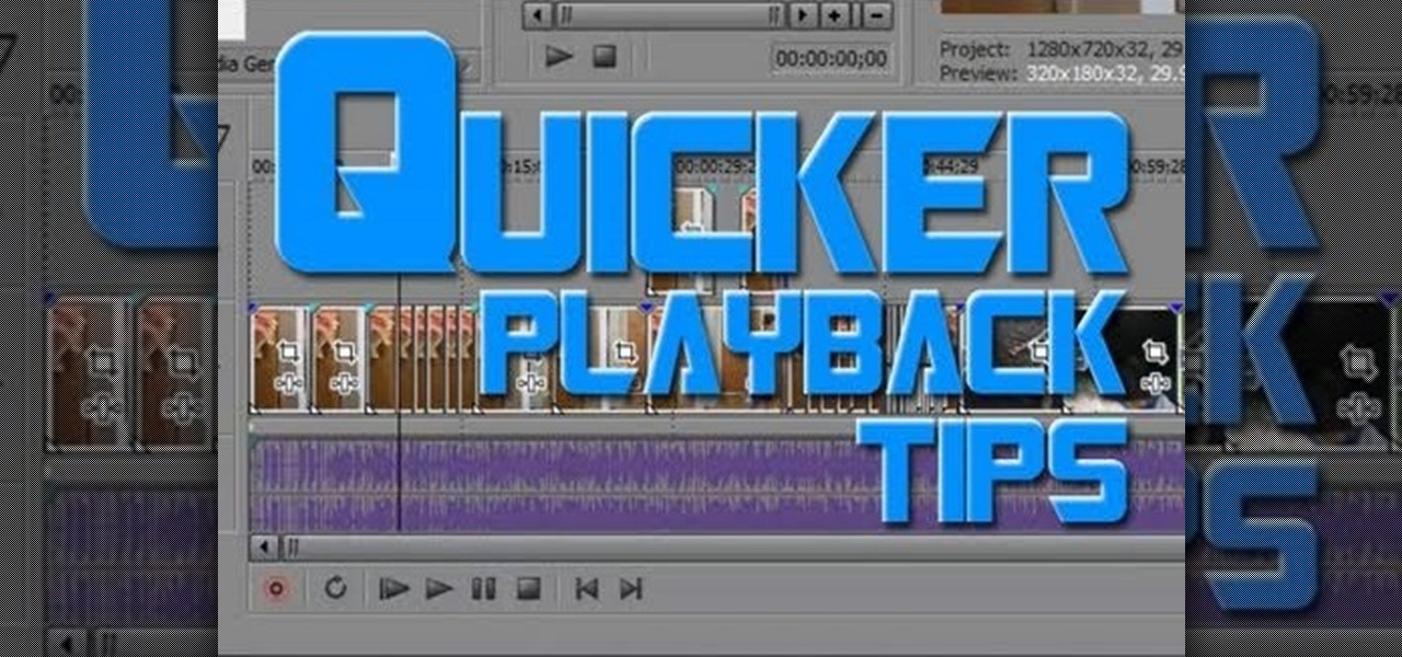 How to Avoid choppiness when playing back video in Sony Vegas « Sony