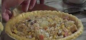 Cook turkey pot pie