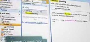 Find data with Instant Search in MS Outlook 2007