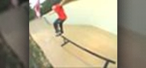 Nose grind on a skateboard with Rob Dyrdek