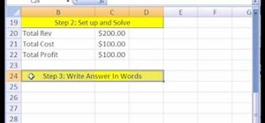 Create Excel formulas to solve business math problems