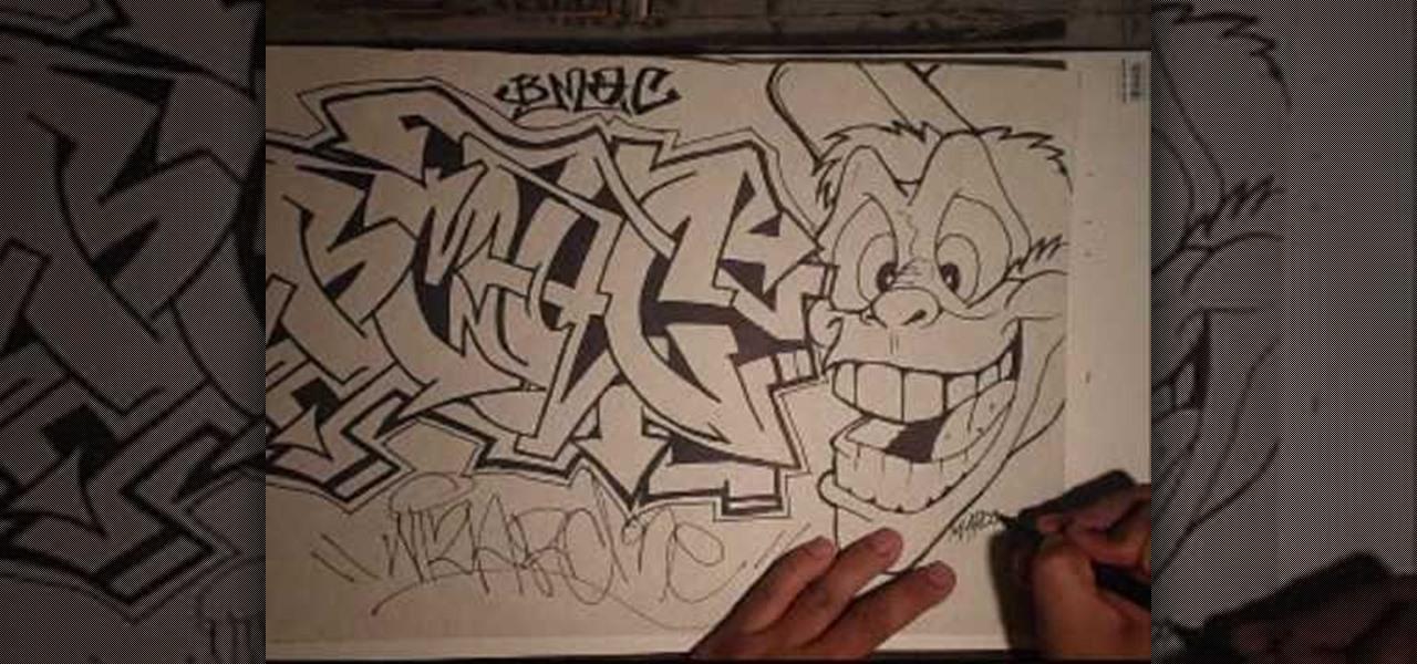 easy graffiti drawings in pencil