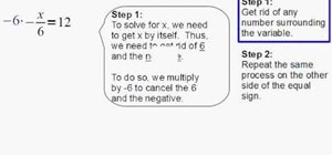 Solve a single-step equation using multiplication