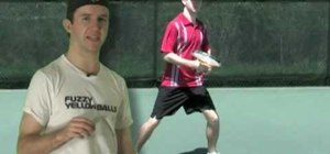 Practice moving to the ball tennis footwork