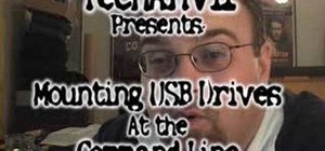 Mount a USB flash drive at the linux command line