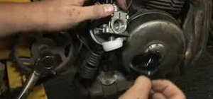 Clean a moped carburetor