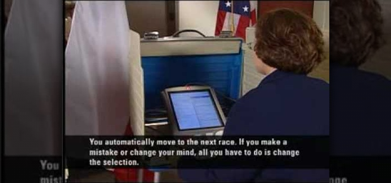 how to use voting machine