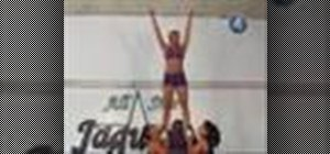Do an elevator stunt in cheerleading