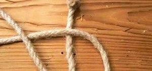 Tie a carrick bend knot