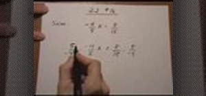 Solve linear equations w/ the multiplication property
