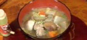 Cook tonjiru