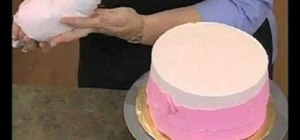 Ice large sections of a cake with Wilton decorating tip 789