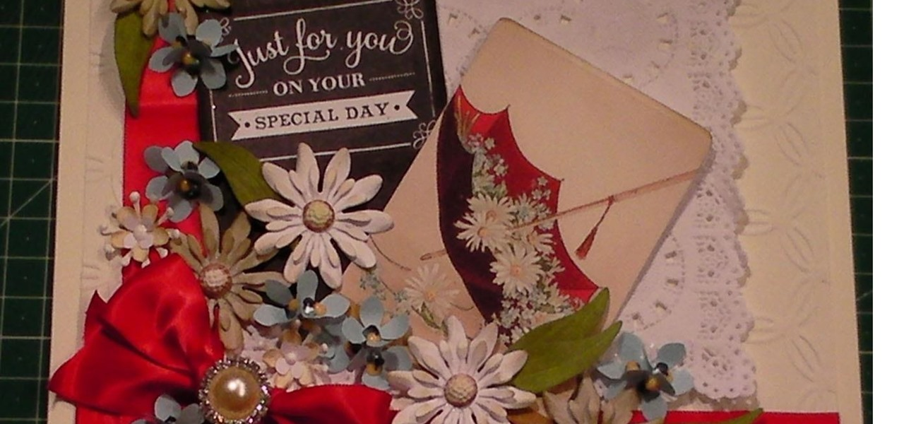 Make a Glorious Vintage Daisy Collage Card