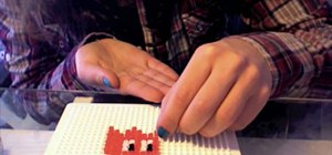 Use hama beads to create a Pac-Man ghost