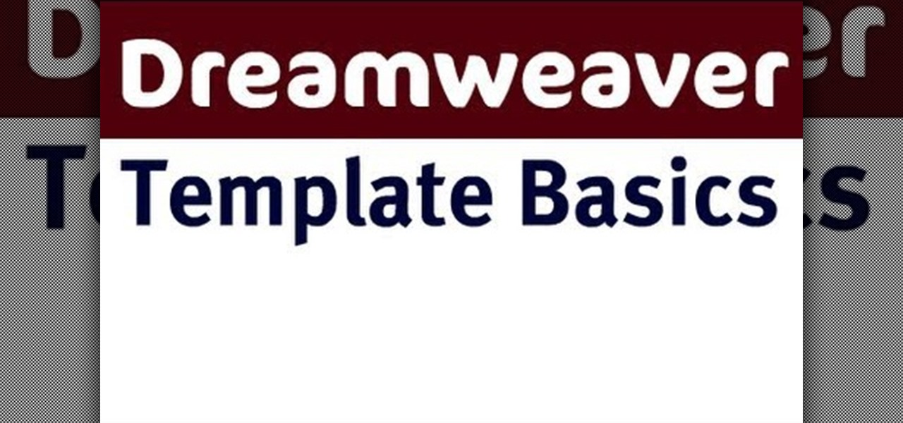 basic dreamweaver templates - how to use basic template tools in adobe dreamweaver cs4