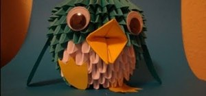 Make a 130-sheet, folded-paper penguin with origami
