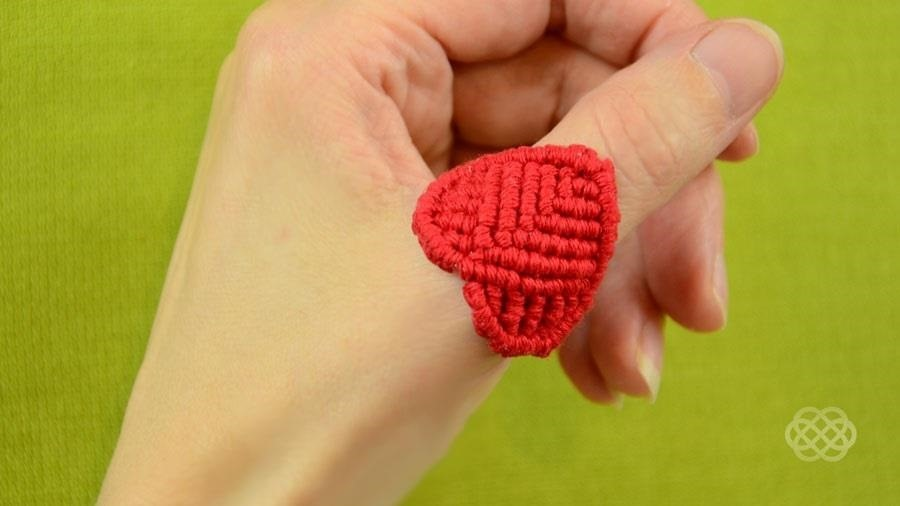 How to Macrame a Heart Ring