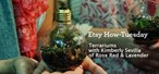 How to Craft a pretty light bulb terrarium